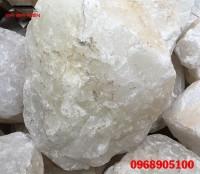 Đá thạch anh trắng thô bán trong dạng khối lớn